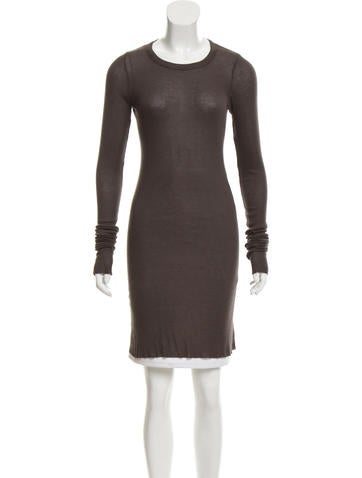 Rick Owens Rib Knit Semi-Sheer Tunic None