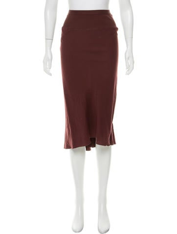 rick owens casual knee length skirt clothing ric28833