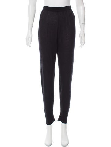 Rick Owens High-Rise Skinny Cashmere Pants None