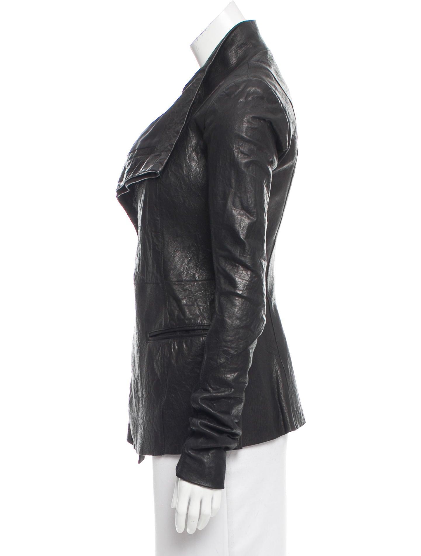 Rick owens leather jacket sale