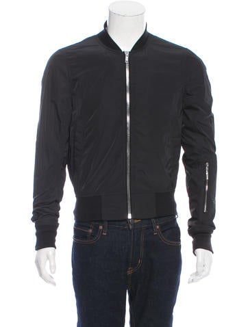 Rick Owens Rib Knit-Trimmed Bomber Jacket None