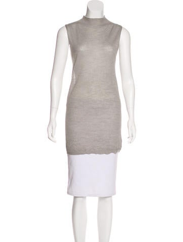Rick Owens Sleeveless Knit Top None