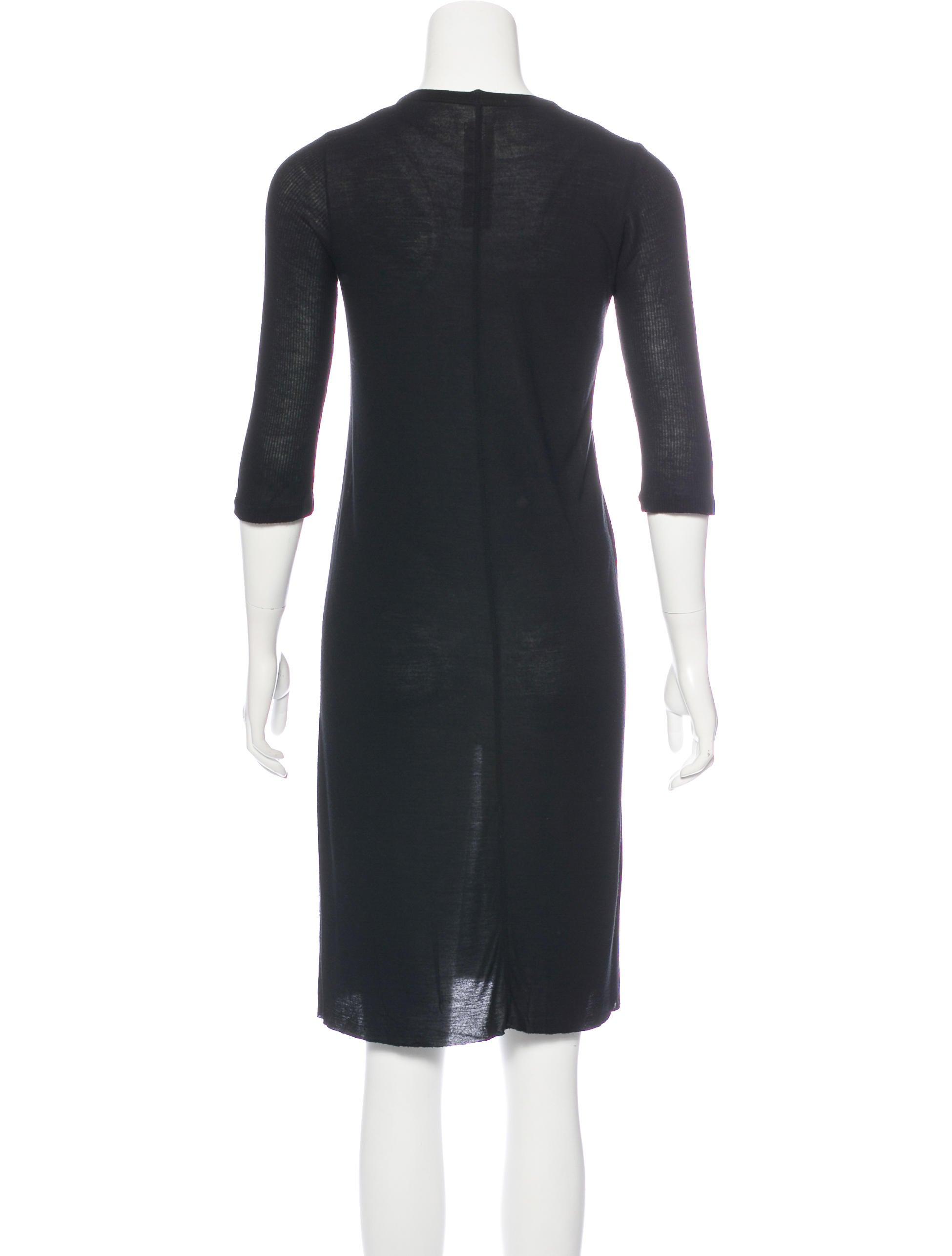 Rick Owens Knee Length T Shirt Dress Clothing Ric29815 The
