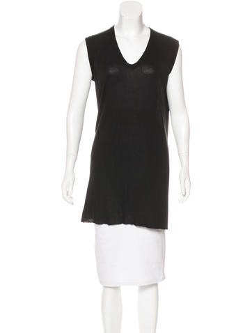 Rick Owens Knit Sleeveless Tunic None