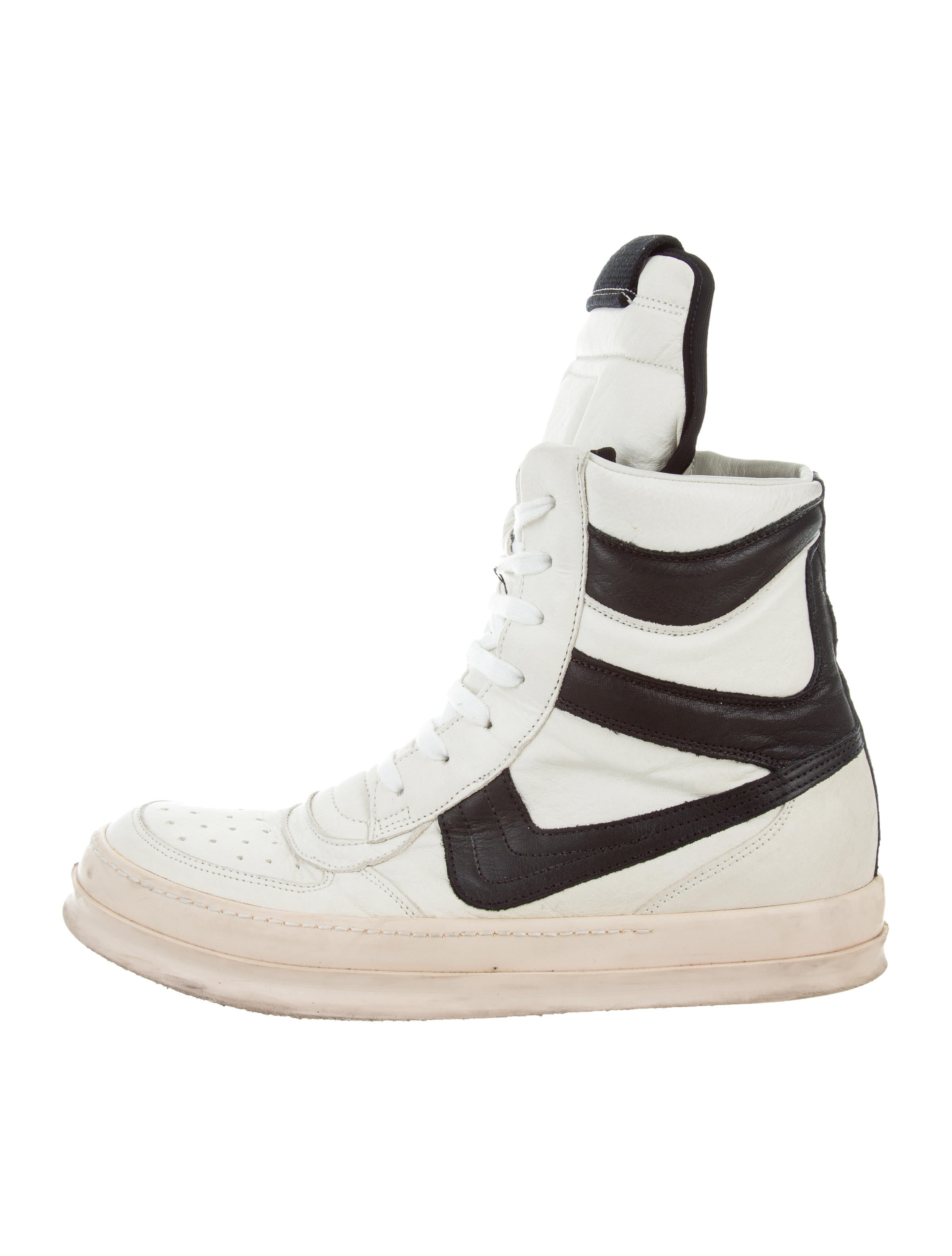 Rick Owens 2008 Creatch Dunk Leather Sneakers - Shoes - RIC30118 | The  RealReal