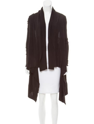 Rick Owens Wool Open-Front Cardigan None