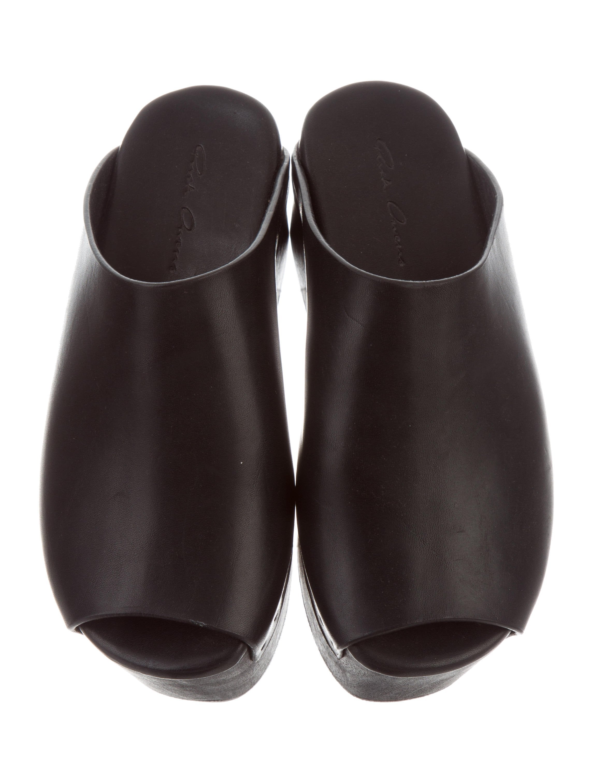 cheap sale excellent Rick Owens Peep-Toe Sabot Clogs w/ Tags discount codes really cheap buy cheap prices best place cheap price cheap best seller 6LTB8XT0b