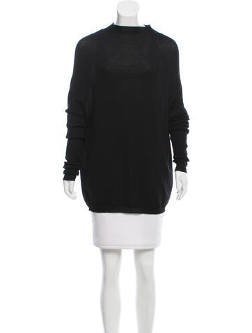 Rick Owens Long Sleeve Wool Sweater None