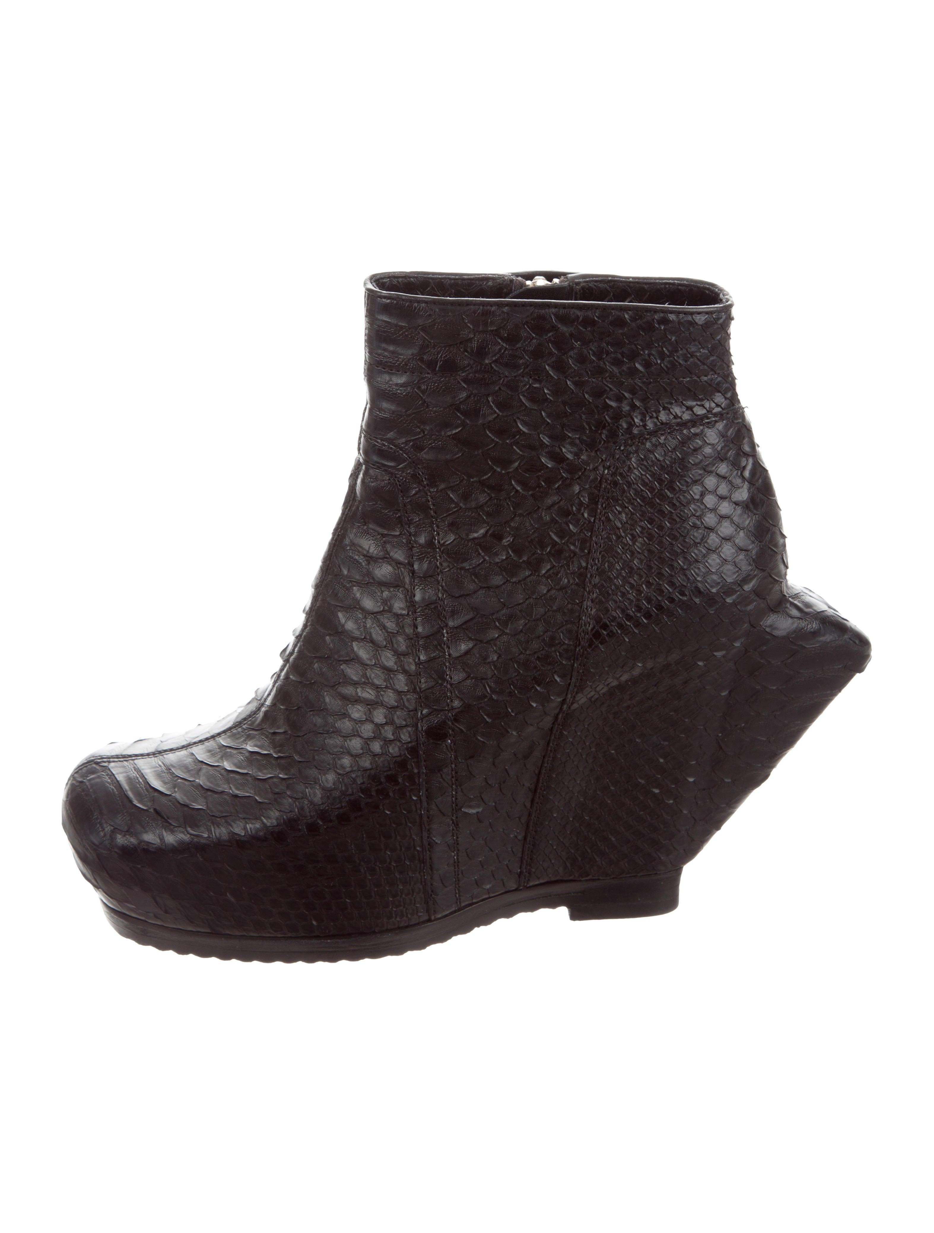 discount fashion Style Rick Owens Python Ankle Boots sale best sale recommend D5axsCnZ