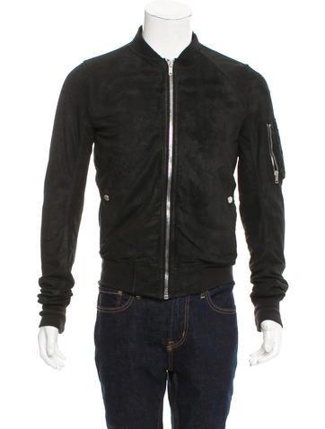 Rick Owens Leather Bomber Jacket None