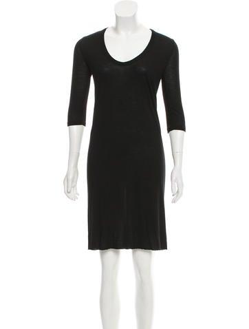 Rick Owens Long Sleeve Mini Dress None
