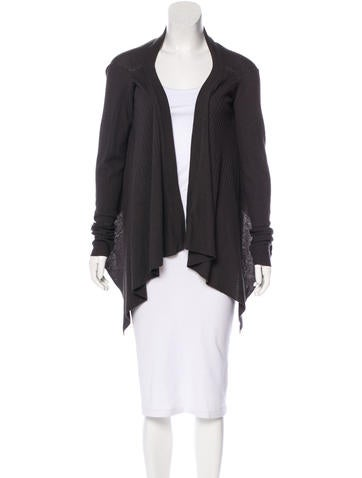 Rick Owens Open Front Knit Cardigan None
