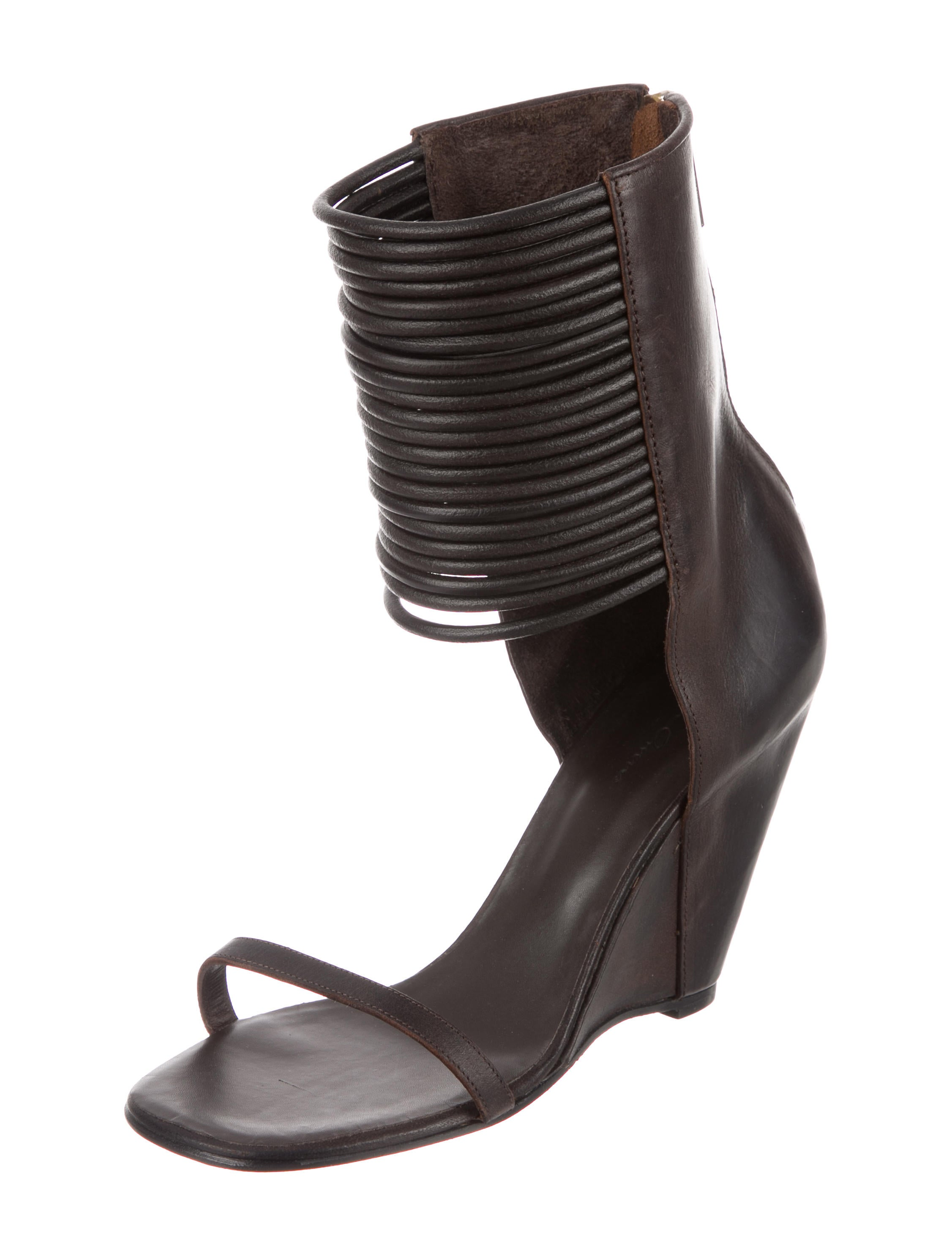 Rick Owens Leather Wedge Sandals w/ Tags pay with paypal hiWsl