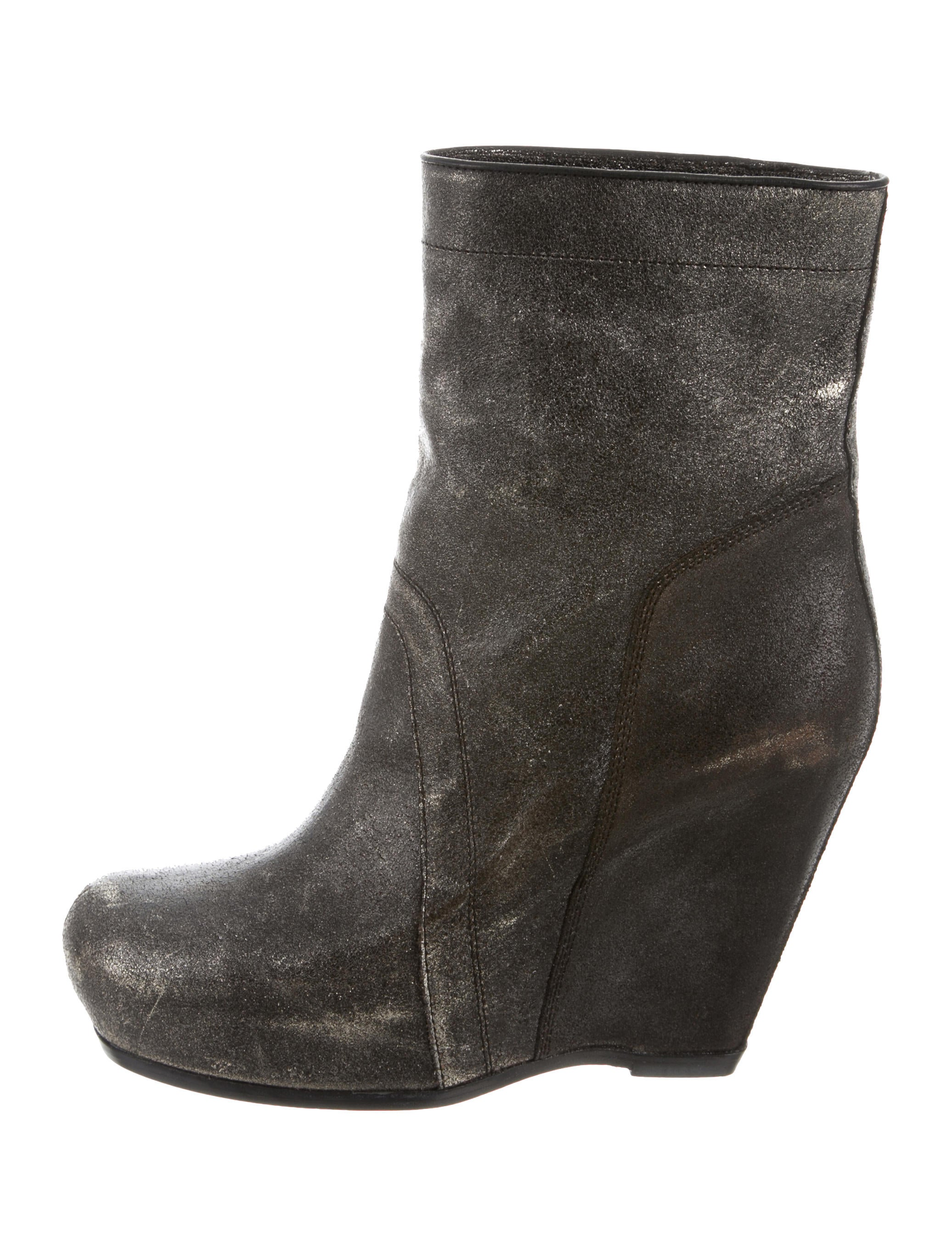 cheap sneakernews Rick Owens Distressed Wedge Boots w/ Tags 100% guaranteed online S4fVolHDOX