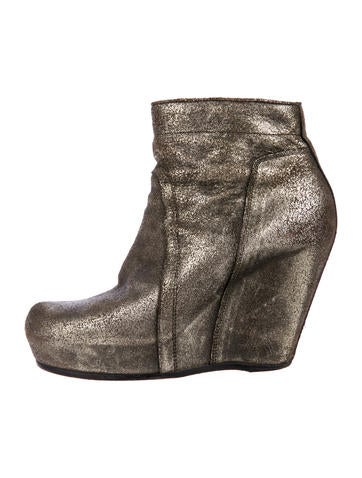 Leather Distressed Ankle Boots