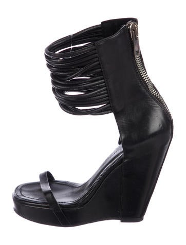 01ed4fd42725 Rick Owens. Platform Wedge Sandals