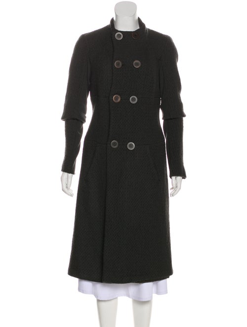 Rick Owens Rib Knit-Trimmed Textured Coat