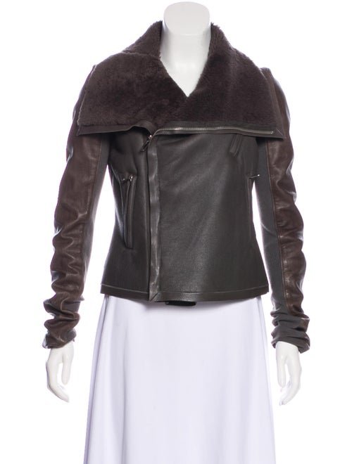 Rick Owens Asymmetrical Shearling Jacket