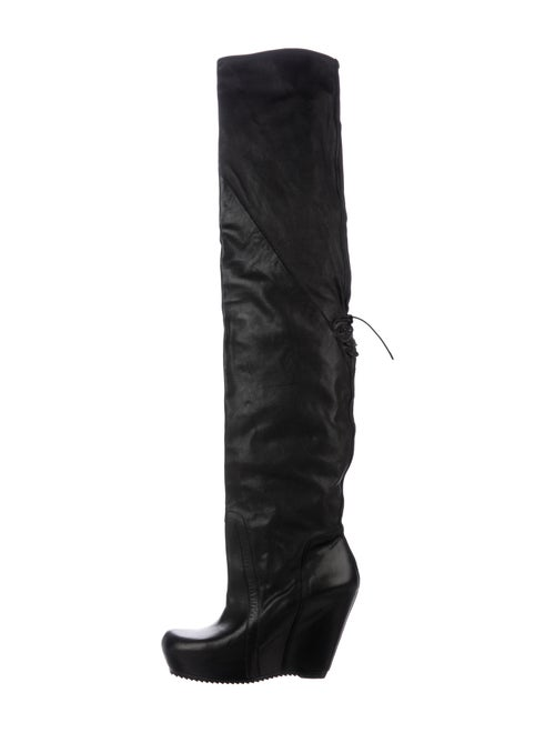 Rick Owens Over-The-Knee Leather Boots Black