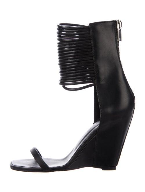 Rick Owens Rick Owens Leather Wedge Sandals Black