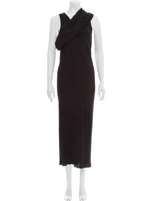 Rick Owens One-Shoulder Long Dress Black