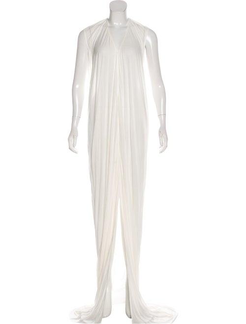 Rick Owens Sleeveless Maxi Dress White