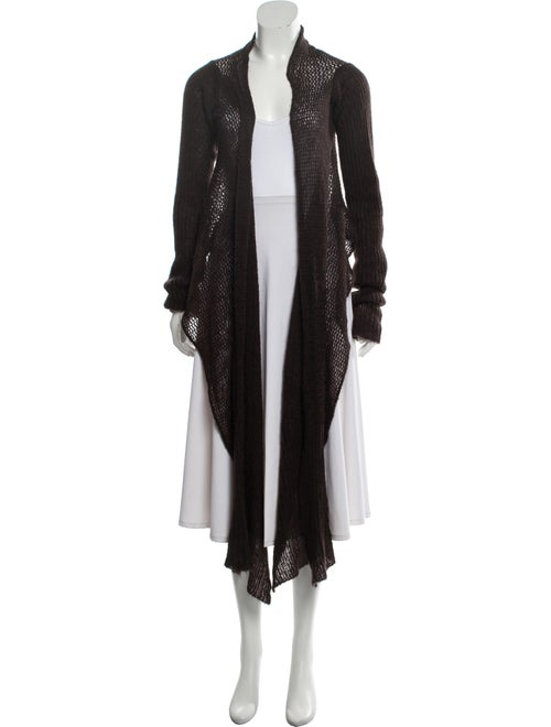 Rick Owens Open Front Sweater Brown