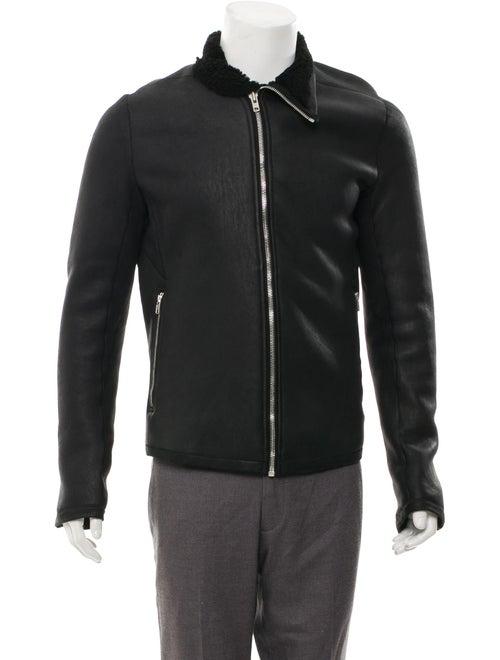 Rick Owens Shearling Jacket Black