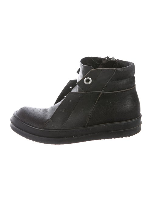 Rick Owens Leather Sneakers Black