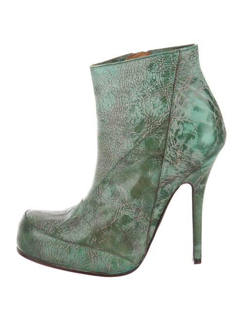 Rick Owens Leather Boots Green