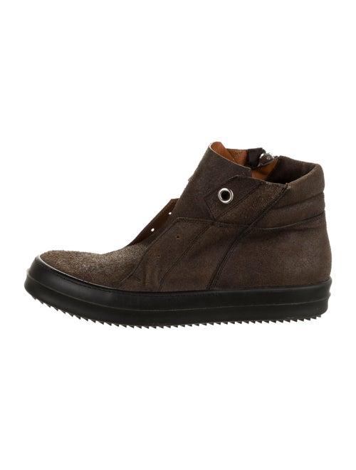 Rick Owens Suede Sneakers Brown
