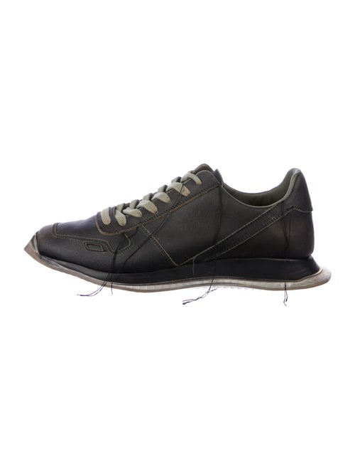 Rick Owens Leather Athletic Sneakers Black