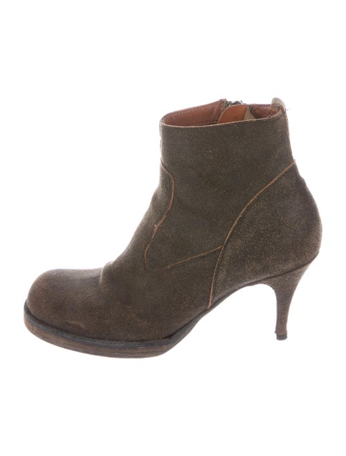 Rick Owens Suede Boots Brown