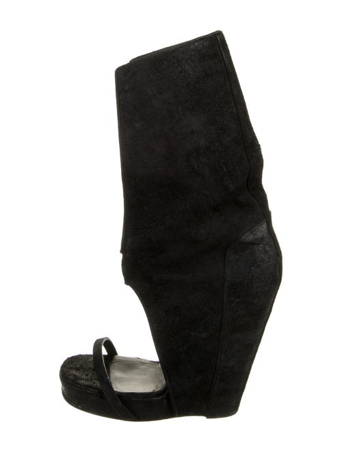 Rick Owens Suede Boots Black