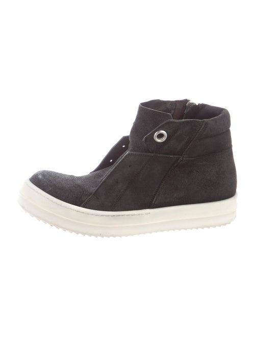 Rick Owens Suede Sneakers Black