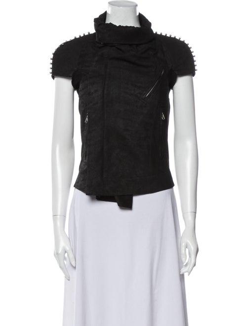 Rick Owens Leather Vest Black