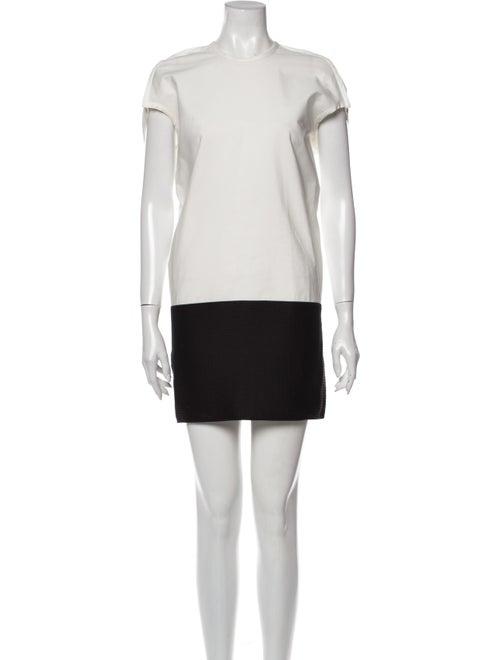 Rick Owens Colorblock Pattern Mini Dress