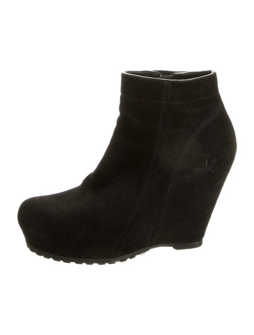 Rick Owens Suede Boots Black