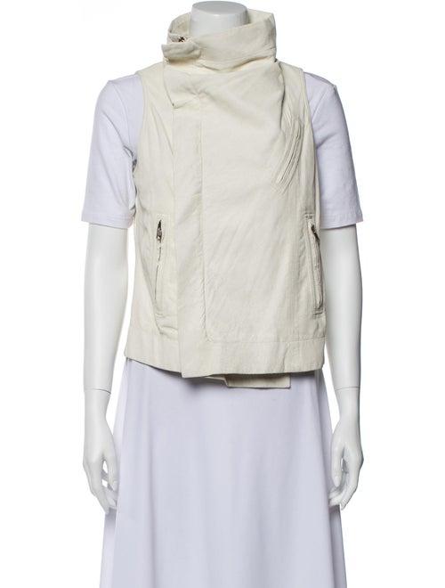 Rick Owens Leather Vest White