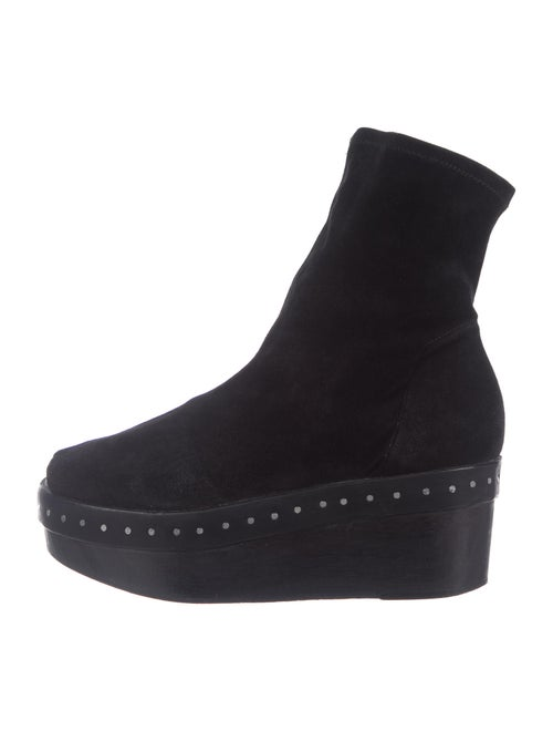 Rick Owens Suede Sock Boots Black