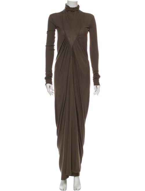 Rick Owens Turtleneck Mini Dress Grey