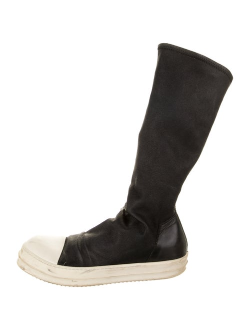 Rick Owens Leather Boots Black