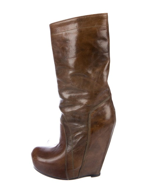 Rick Owens Leather Boots Brown