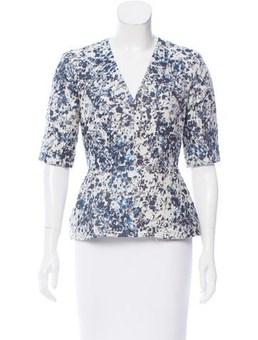 Richard Nicoll Jacquard Peplum Top None