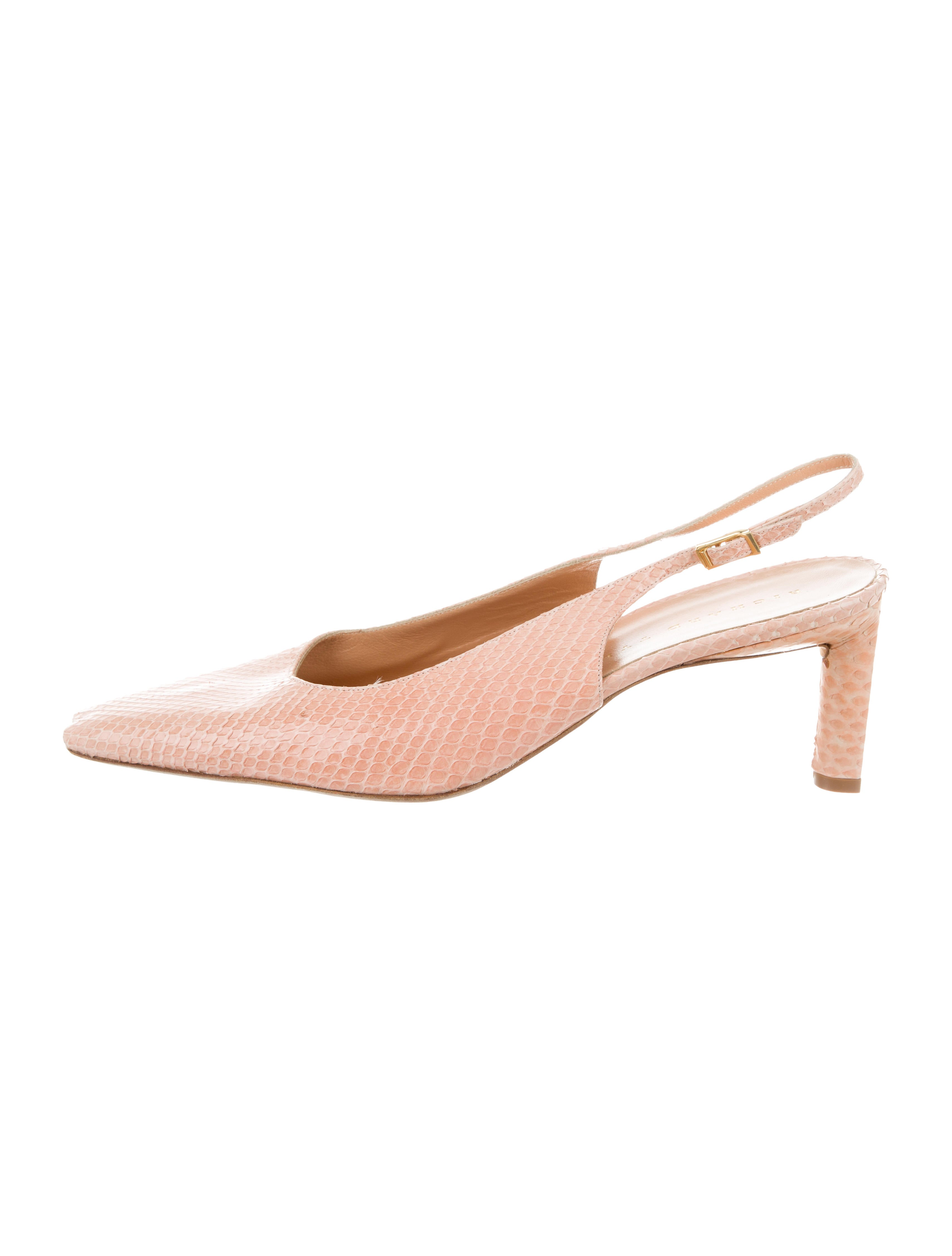 find great for sale Richard Tyler Snakeskin Slingback Pumps outlet extremely Inexpensive for sale cheap best place discount release dates HNq6bU