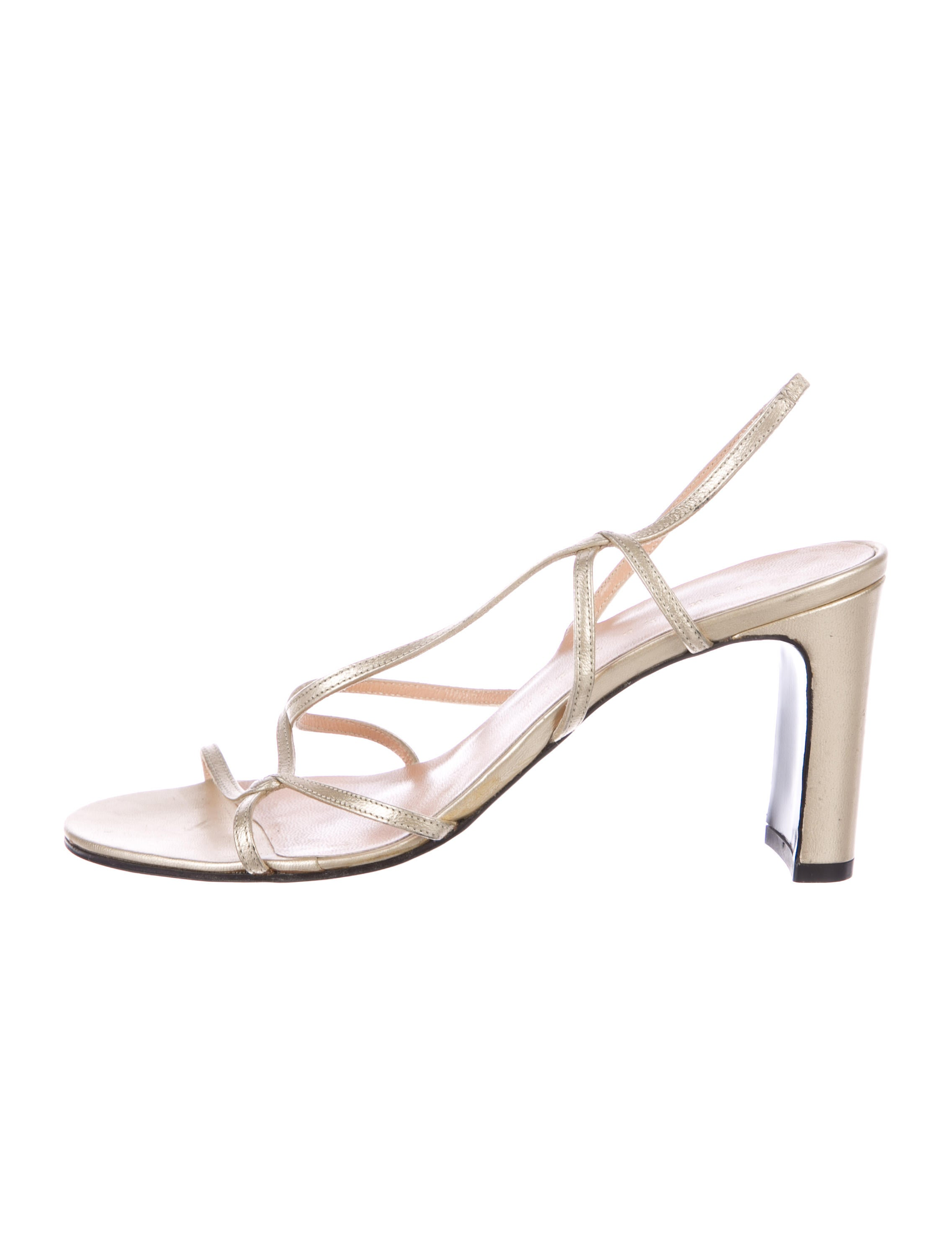 outlet wholesale price Richard Tyler Metallic Leather Sandals free shipping pay with visa authentic 7N34M9K