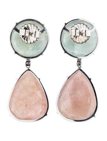 Sapphire Slice and Diamond Drop Earrings
