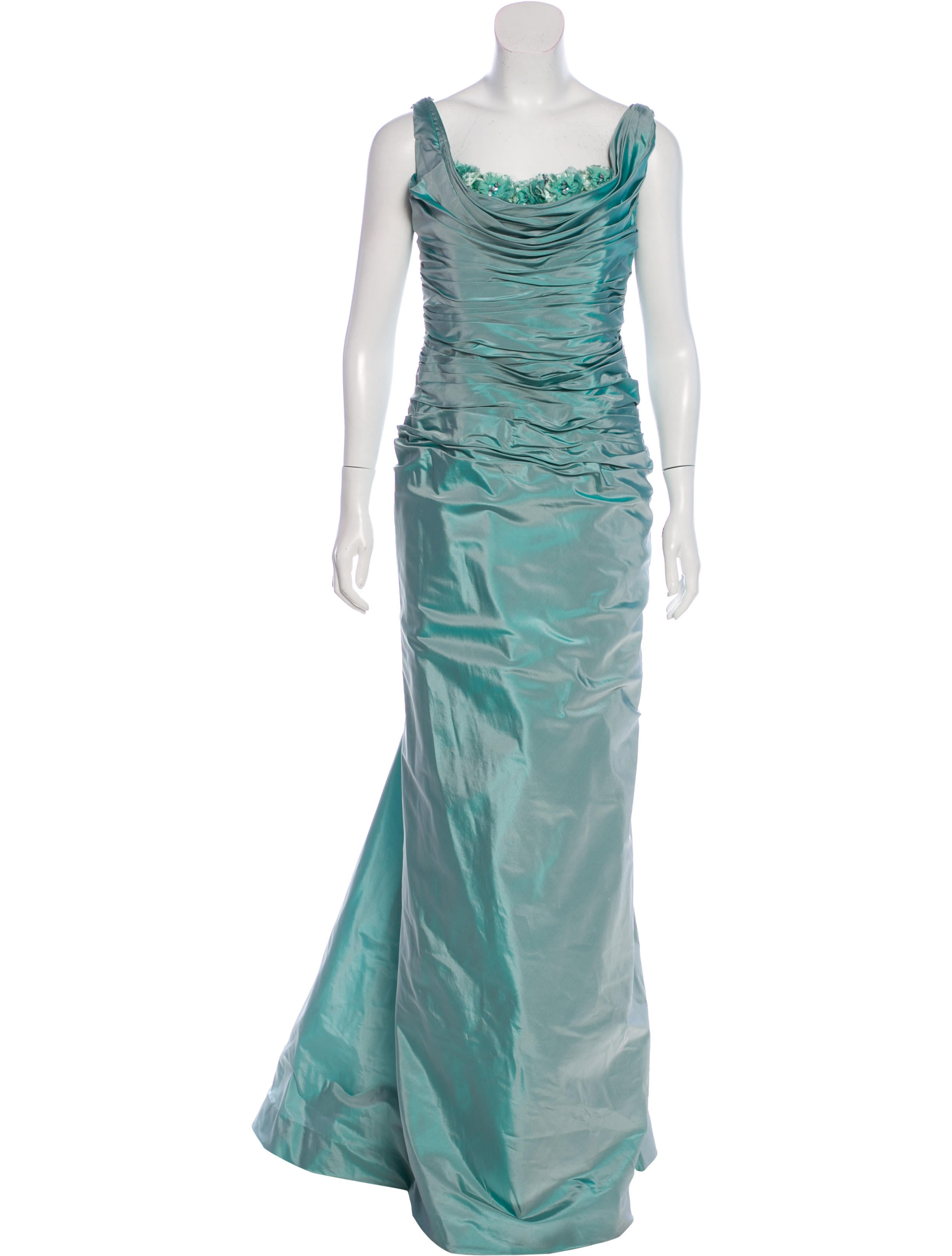 Roland Nivelais Silk Embellished Gown - Clothing - RLN20039 | The ...