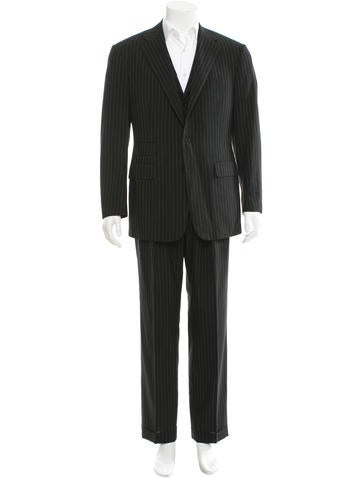 Ralph Lauren Purple Label Pinstripe Three-Piece Suit None