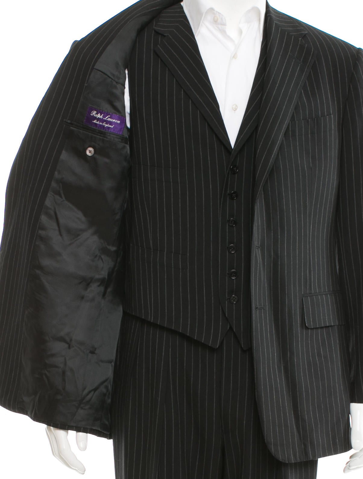 Ralph Lauren Purple Label Pinstripe Three Piece Suit
